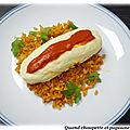 Quenelles de brochet, riz a paella et tomate au tm ou pas ...