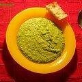 Velouté tout vert (petits pois-courgettes)