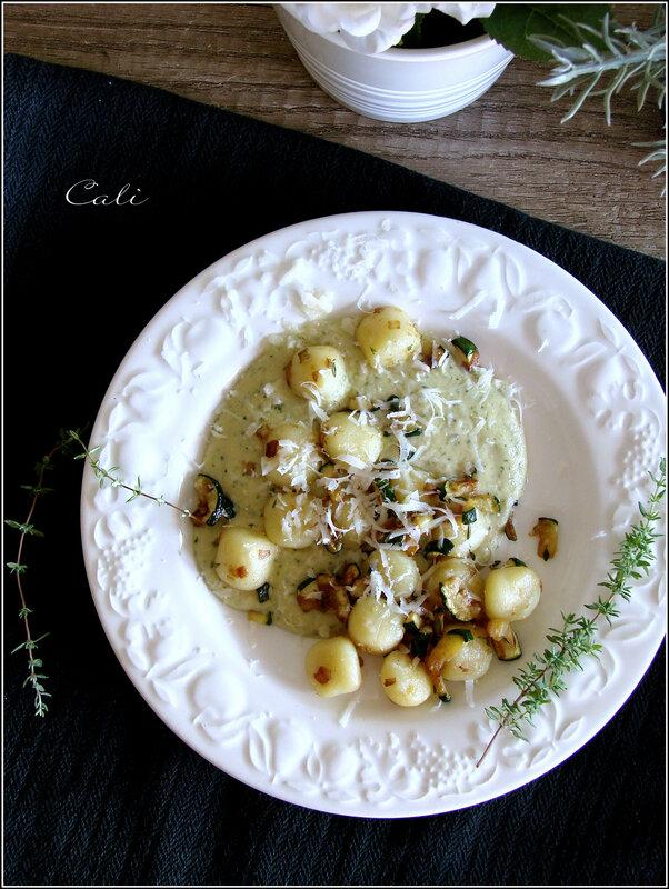 Gnocchi Di Patate à la Crème de Courgette & Chèvre Frais 001