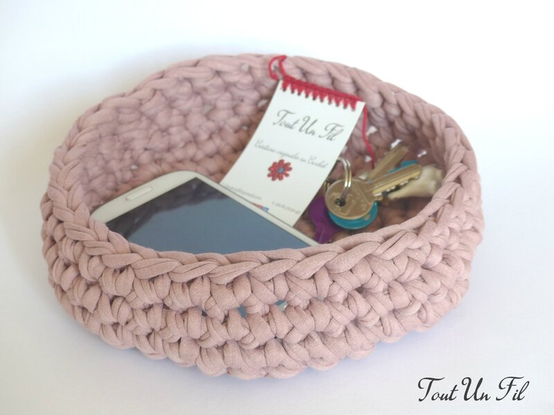 Panier vide-poche Trapilho Crochet T4 05