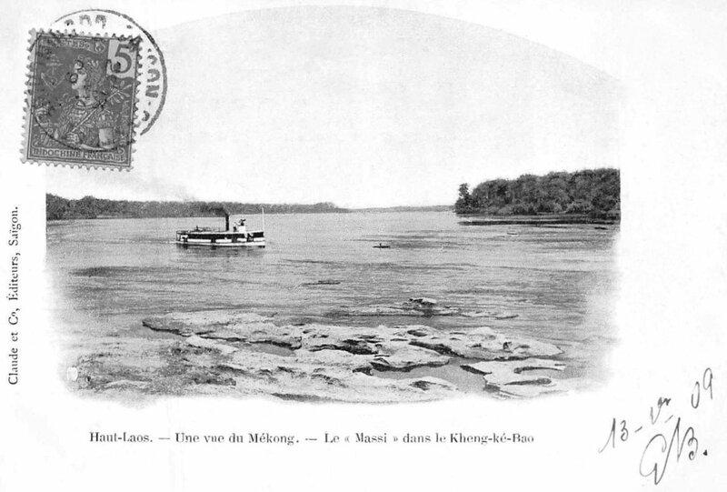 le Massi sur le Mékong, postée en 1909
