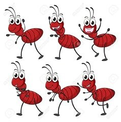 17161139-Illustration-of-smiling-ants-on-a-white-background-Stock-Vector