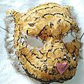 masque tigre à plumes Marimerveille