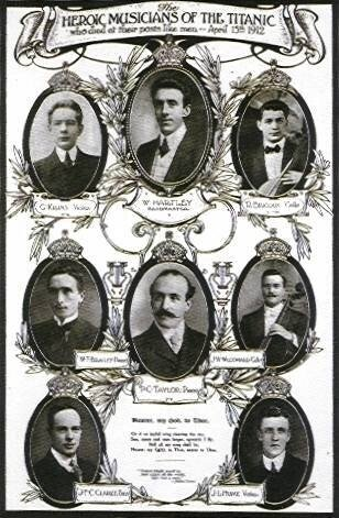 Orchestre du Titanic Gravure