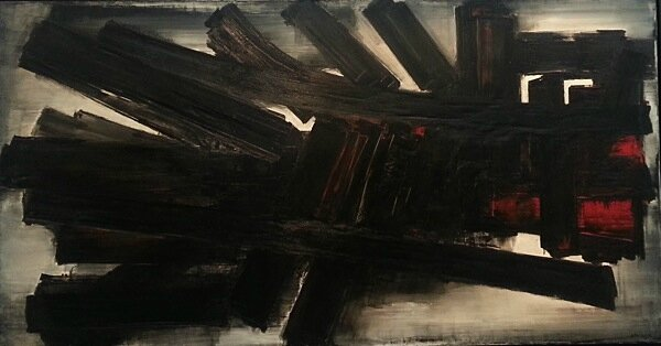 Soulages œuvre rouge