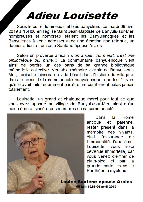 L'enterrement de Louisette Aroles - Page 1