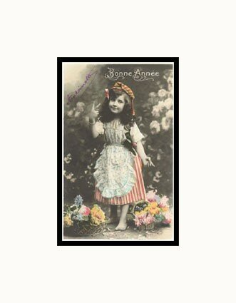 MP_876521_Bonne_Annee_Girl_with_Flowers_Posters