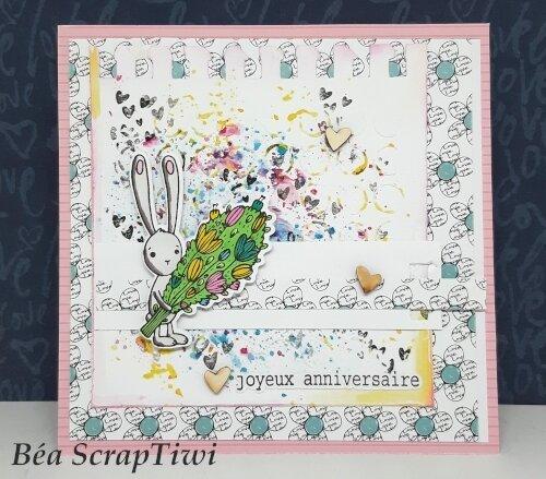 Carte lapin anniversaire 1