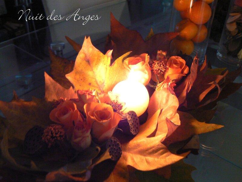 Nuit des anges décoratrice de mariage décoration de table automne 012