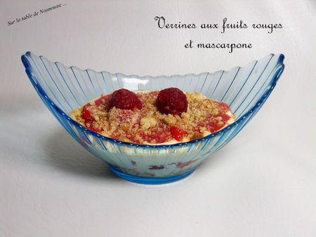 Verrines aux fruits rouges et mascarpone 1