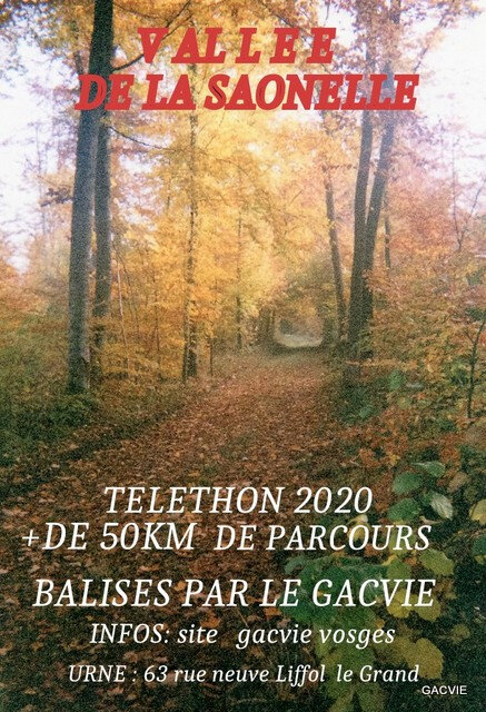TELETHON 2020 - PARCOURS URBAINS & FORESTIERS