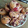 Muffins griottes chocolat blanc