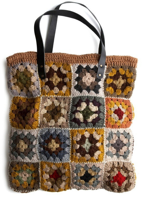 motjey craft o rama granny square bag from MOD CLOTH