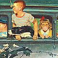 C est la rentré:going and coming - art by norman rockwell