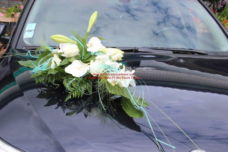 mariage blanc et turquoise Pargny Sur Saulx (61)