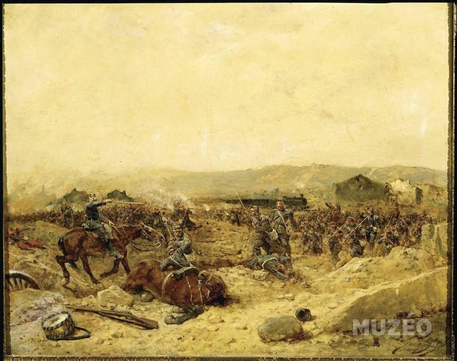 Beauquesne, le 12eme bataillon de chasseurs à Peltre