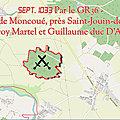 Sept. 1033 par le gr36 - bataille de moncoué, près saint-jouin-de-marnes - geoffroy martel et guillaume duc d'aquitaine