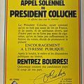 Affiche - appel solennel du président coluche