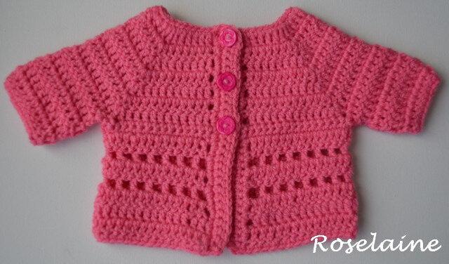Roselaine brassière rose crochet 1