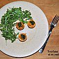Bouchées à la carotte et au pesto de persil