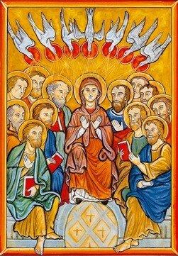 Envoi de l'Esprit Saint, icône
