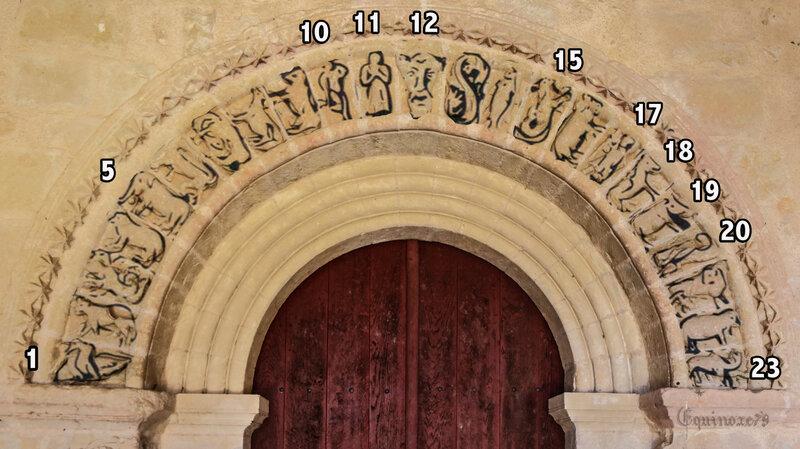 bestiaire porche église de Lusignan