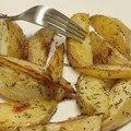 Potato wedges (frites de pommes de terre au four)