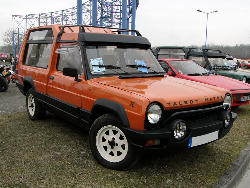 talbot matra rancho x 1980 1984 oldiesfan67 mon blog auto. Black Bedroom Furniture Sets. Home Design Ideas