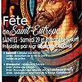 Saint eutrope (ou saint eutropius) - sainte estelle de saintes - mediolanum santonum