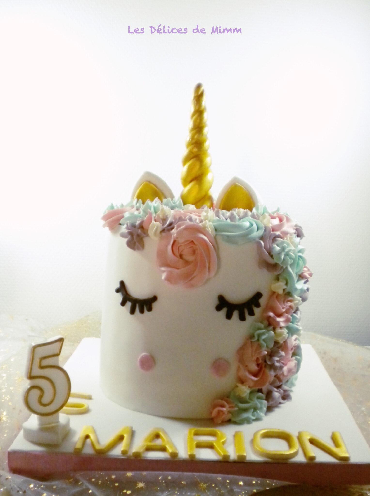 la g teau licorne de marion unicorn cake les d lices de mimm. Black Bedroom Furniture Sets. Home Design Ideas