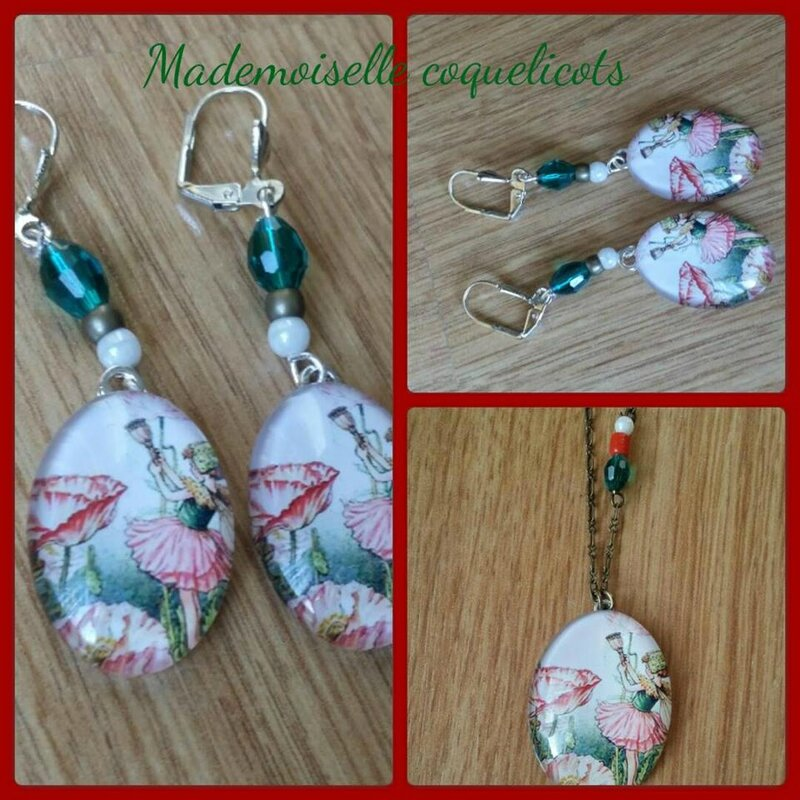 mlle coquelicots boucles