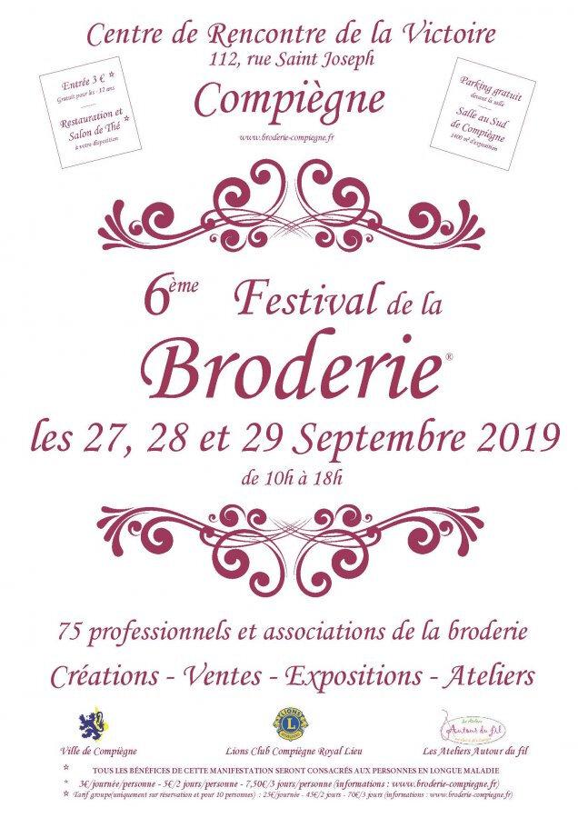 6ème Festival de la BRODERIE -COMPIEGNE