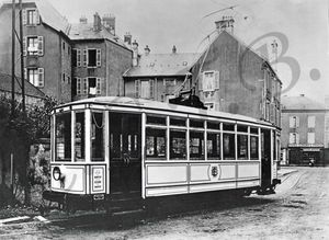 CPA Tramway 1922 Rue du Tramway CCTB