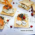 Mini toast à la crème fromage et saumon