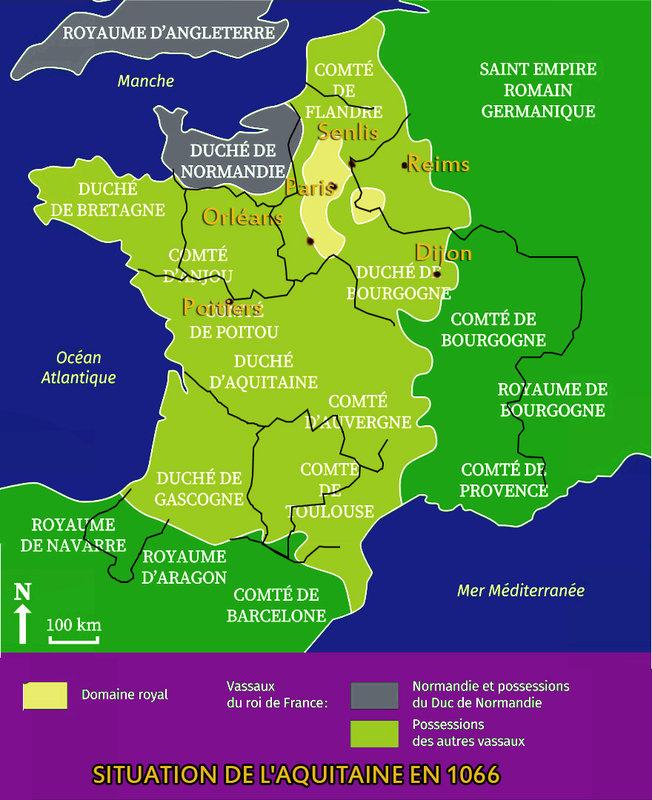SITUATION DE L'AQUITAINE EN 1066
