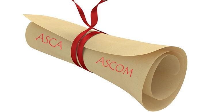Résultats examens ASCA et ASCOM session mai-juin 2019