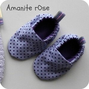 Chaussons mauves Lola