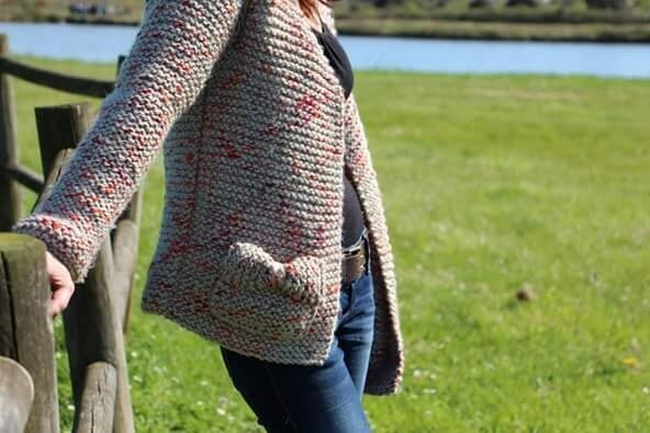 Gilet phildar point mousse phil country