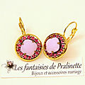 bijoux-mariage-soiree-temoin-cortege-boucles-d-oreilles-Aline-strass-et-cristal-rose-alabaster-et-rose-foncé-2 - Copie