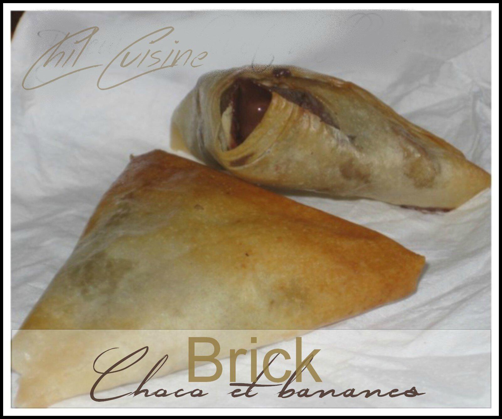Brick chocolat bananes