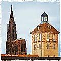 Cathédrale de strasbourg et porte de l'hôpital