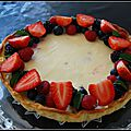 Tarte cheesecake aux fruits rouge !