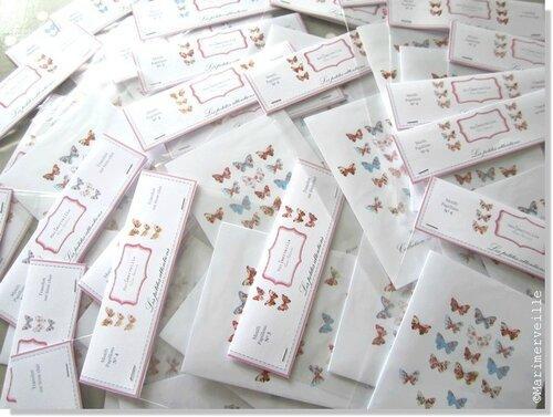 collection ©Marimerveille transferts papillons sur tissu clair
