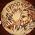 Portrait en chocolat Erdogan Atalay pour Caroline - Dessin en chocolat - Portrait in chocolate -