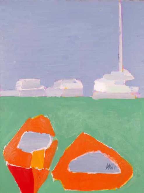 Nicolas de Staël, Bateaux Rouges, 1954, Huile sur toile, 81 x 60,3 cm, Milwaukee Art Museum. Gift of Mr. and Mrs. Harry Lynde Bradley, 1959-1960, Milwaukee Art Museum