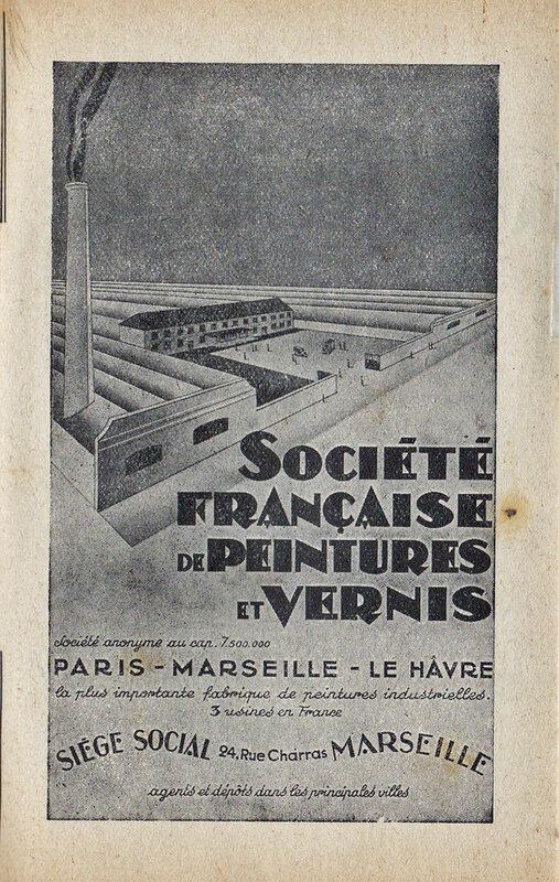 Pub Sté française de peintures et vernis
