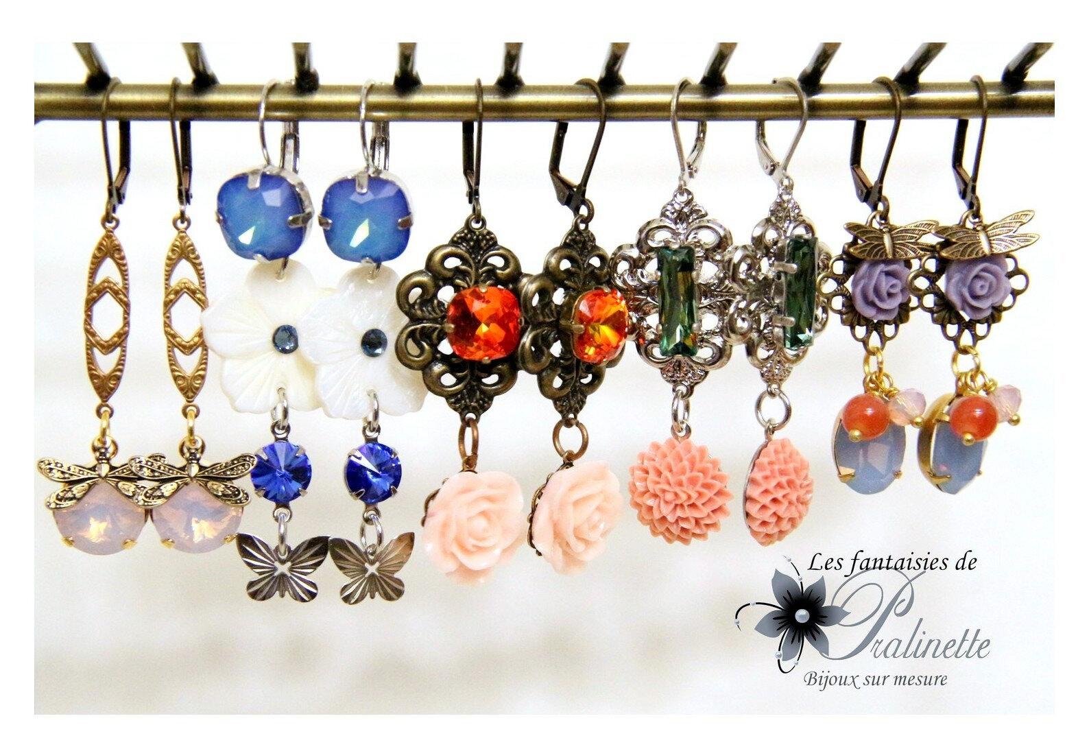 bijoux-mariage-soiree-temoin-boucles-d-oreilles-clous-puces-berenice-cristal-et-fleurs-en-résine-et-cristal