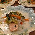 Waterzoï de saumon à l'estragon