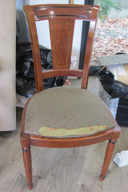 retapisser une chaise côté sièges