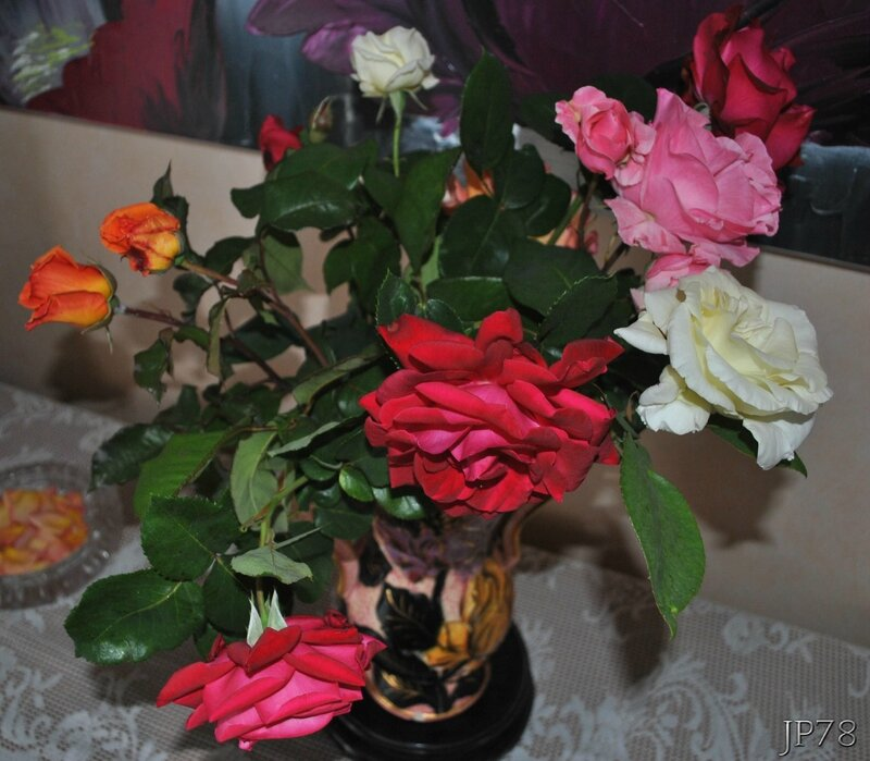 Bouquet de rose du jardin
